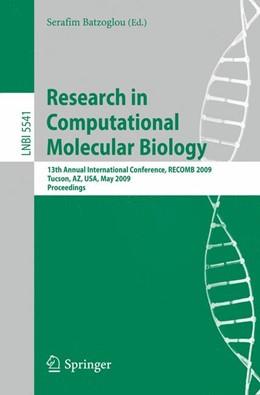 Abbildung von Batzoglou | Research in Computational Molecular Biology | 2009 | 13th Annual International Conf...
