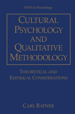 Abbildung von Ratner | Cultural Psychology and Qualitative Methodology | 1997