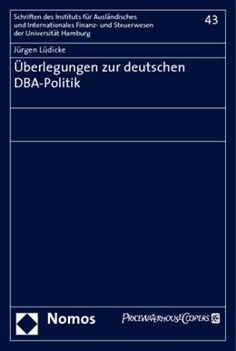 Abbildung von Lüdicke | Überlegungen zur deutschen DBA-Politik | 2008