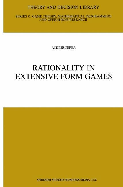 Abbildung von Perea | Rationality in Extensive Form Games | 2001 | 2001