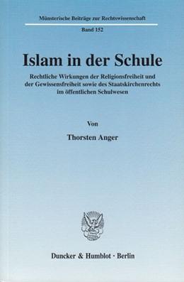 Abbildung von Anger   Islam in der Schule.   2003