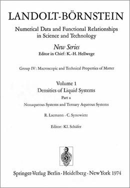 Abbildung von Lacmann / Synowietz | Nonaqueous Systems and Ternary Aqueous Systems / Nichtwässerige Systeme und ternäre wässerige Systeme | 1974