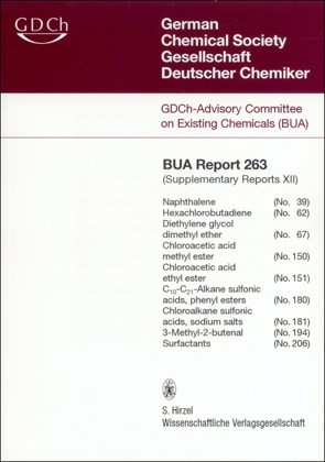 Abbildung von GDCh-Advisory Committee on Existing Chemicals of Environmental Relevance (BUA) | 263 BUA-Report: Supplementary Reports XII | 2008