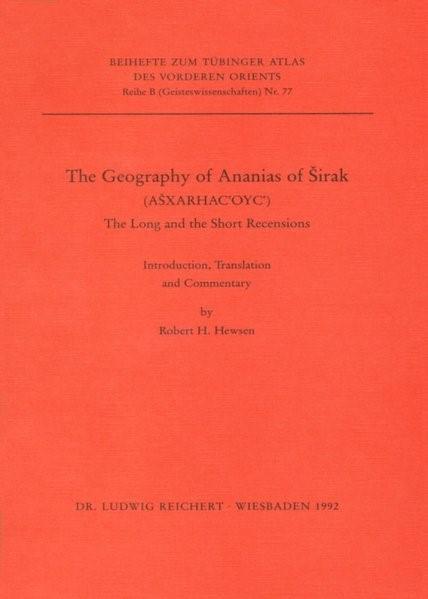 Abbildung von Hewsen | The Geography of Anasias of Sirak | 1992