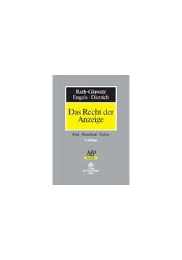Abbildung von Rath-Glawatz / Engels / Giebel / Dietrich   Das Recht der Anzeige   2005   Print - Rundfunk - Online