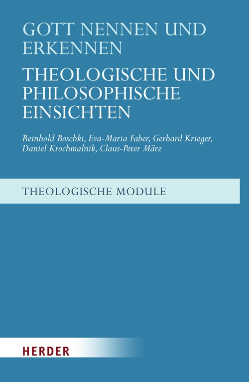 Gott nennen und erkennen | Boschki / Faber / Krochmalnik, 2010 | Buch (Cover)