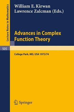 Abbildung von Kirwan / Zalcman   Advances in Complex Function Theory   1976   Proceedings of Seminars held a...   505