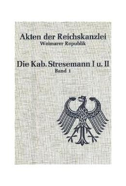 Abbildung von Erdmann / Vogt | Die Kabinette Stresemann I und II (1923) | 1996