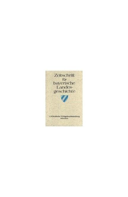Cover: , Zeitschrift für bayerische Landesgeschichte Band 84 Heft 1/2021