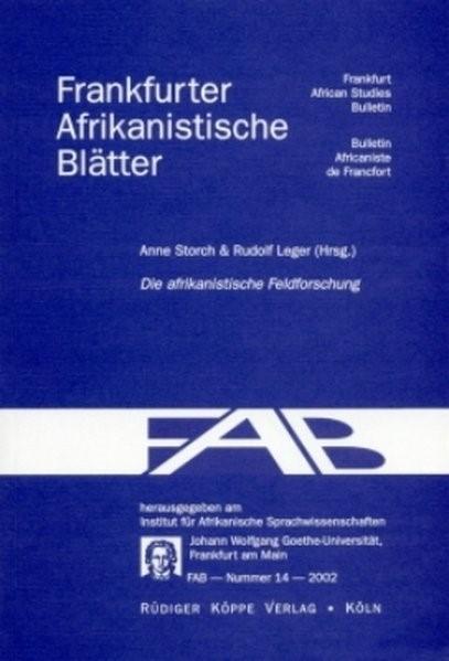 Abbildung von Storch / Leger | Einführung in die afrikanistische Feldforschung | 2003