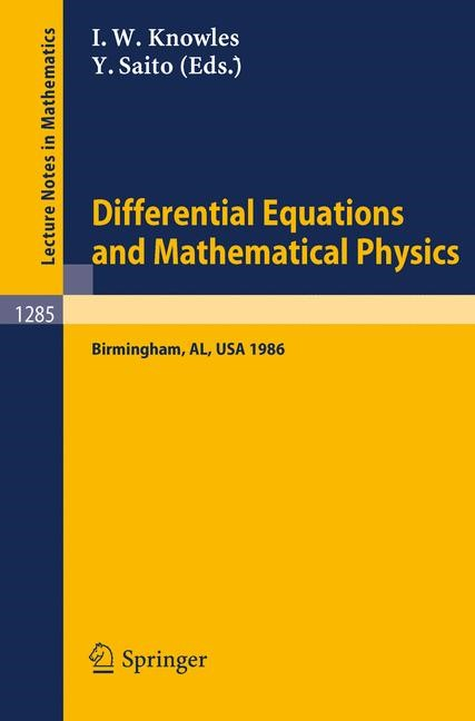 Abbildung von Knowles / Saito | Differential Equations and Mathematical Physics | 1987