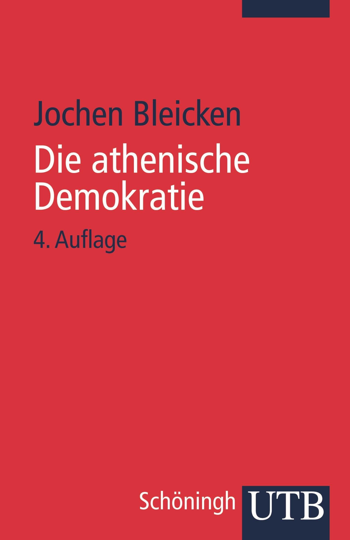 Die athenische Demokratie | Unv. ND der 4. Aufl. 1995, 1995 | Buch (Cover)