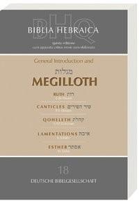 Abbildung von Schenker | Biblia Hebraica Quinta (BHQ). Gesamtwerk zur Fortsetzung / General Introduction and Megilloth | 2004