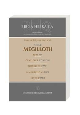 Abbildung von Schenker | Biblia Hebraica Quinta (BHQ). Gesamtwerk zur Fortsetzung / General Introduction and Megilloth | 2004 | (Teil 18 des Gesamtwerks): Gen...