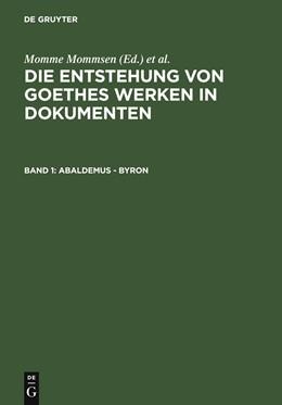 Abbildung von Mommsen | Abaldemus - Byron | 2006