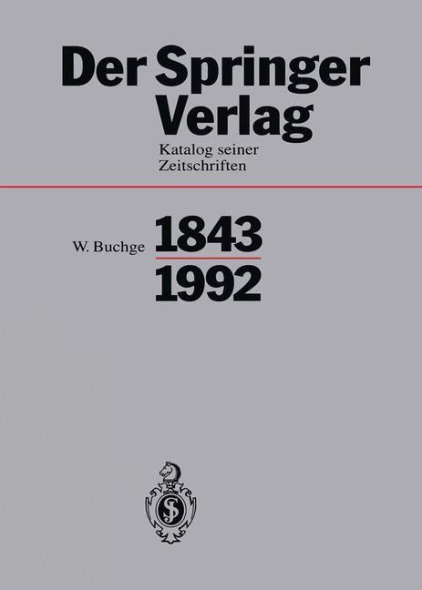 Abbildung von Buchge | Der Springer-Verlag | 1994