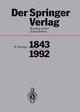 Abbildung von Buchge   Der Springer-Verlag   1994   Katalog Seiner Zeitschriften 1...