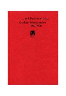 Abbildung von Beckmann | Ockham-Bibliographie 1900-1990 | 1992