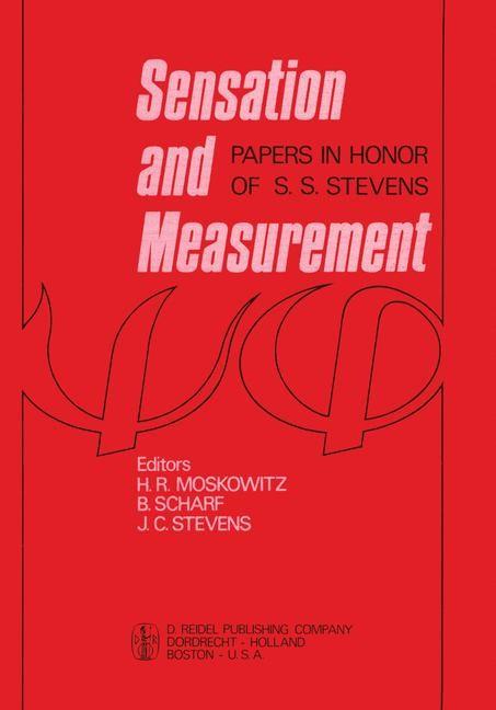 Abbildung von Moskowitz / Scharf / Stevens | Sensation and Measurement | 1974
