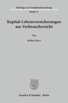 Abbildung von Eifert | Kapital-Lebensversicherungen aus Verbrauchersicht. | 1997 | 31