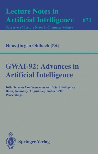 GWAI-92: Advances in Artificial Intelligence | Ohlbach, 1993 | Buch (Cover)