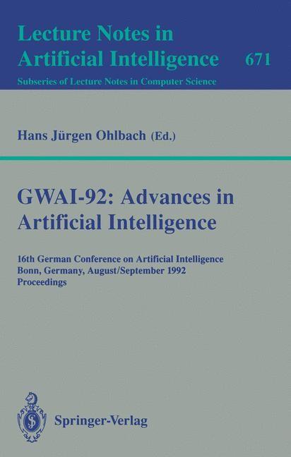 Abbildung von Ohlbach | GWAI-92: Advances in Artificial Intelligence | 1993