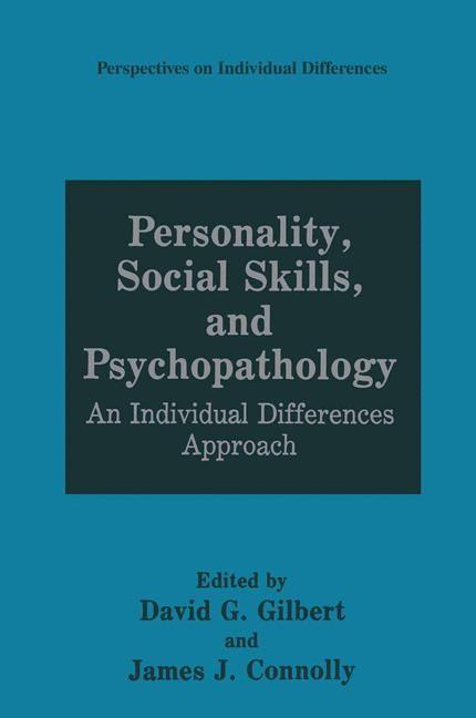 Abbildung von Gilbert / Connolly | Personality, Social Skills, and Psychopathology | 1991
