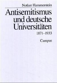 Abbildung von Hammerstein | Antisemitismus und deutsche Universitäten | 1995