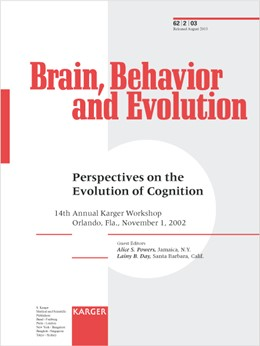 Abbildung von Powers / Day | Perspectives on the Evolution of Cognition | 2003 | 14th Annual Karger Workshop, O... | 62, No. 2