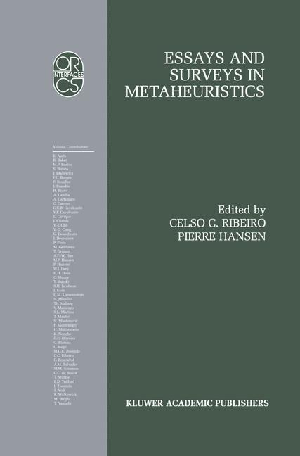 Abbildung von Ribeiro / Hansen | Essays and Surveys in Metaheuristics | 2002 | 2001