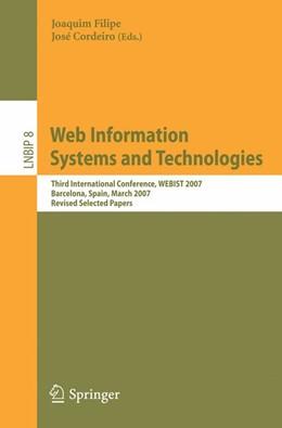 Abbildung von Filipe / Cordeiro | Web Information Systems and Technologies | 2008 | Third International Conference... | 8