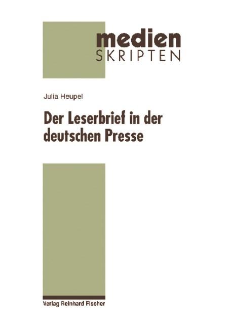 Abbildung von Heupel | Der Leserbrief in der deutschen Presse | 2009