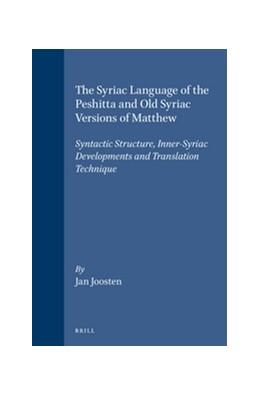 Abbildung von Joosten   The Syriac Language of the Peshitta and Old Syriac Versions of Matthew   1996   Syntactic Structure, Inner-Syr...   22