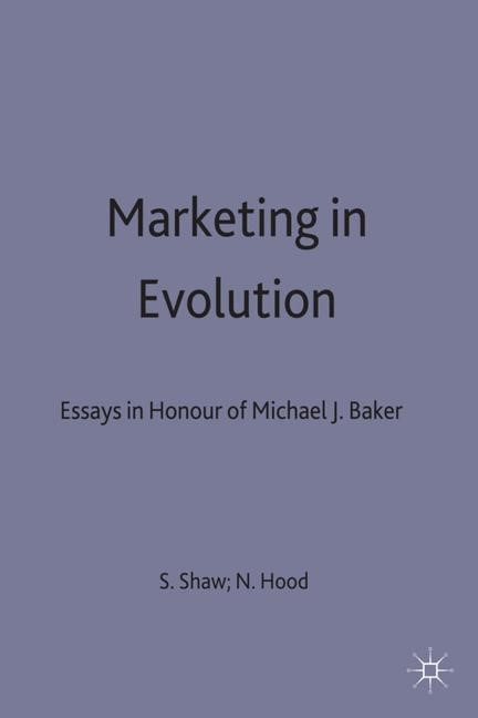 Abbildung von Shaw / Hoodd / Hood | Marketing in Evolution | 1998 | 1996