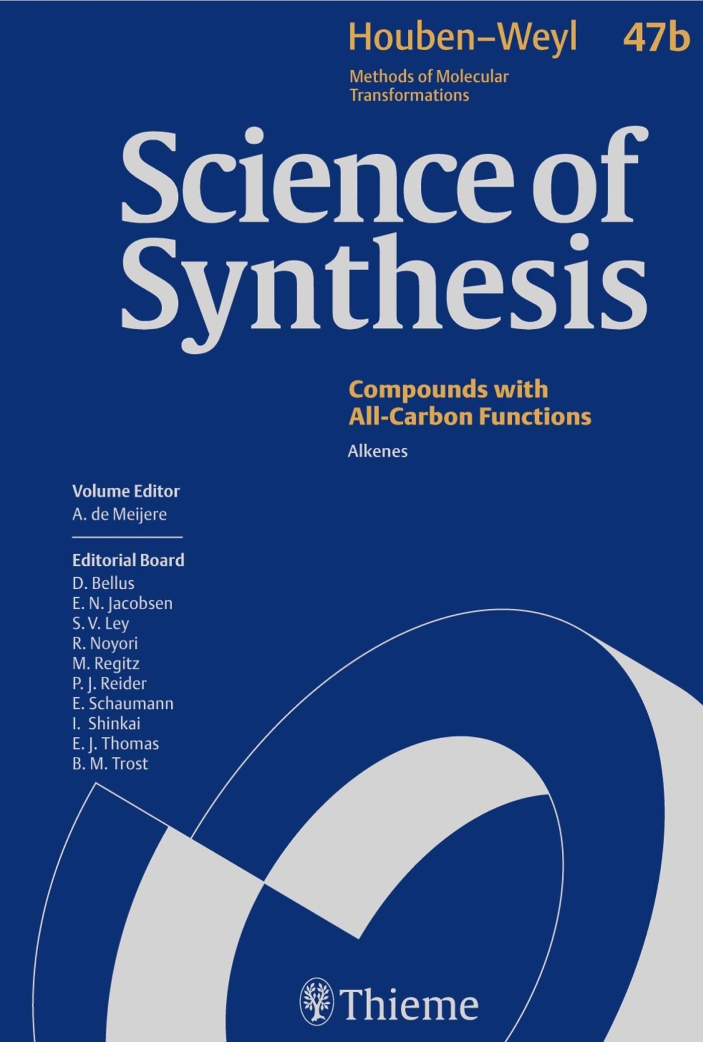 Abbildung von de Meijere | Science of Synthesis: Houben-Weyl Methods of Molecular Transformations Vol. 47b | 1. Auflage | 2009