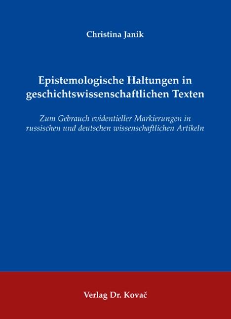 Abbildung von Janik | Epistemologische Haltungen in geschichtswissenschaftlichen Texten | 2007