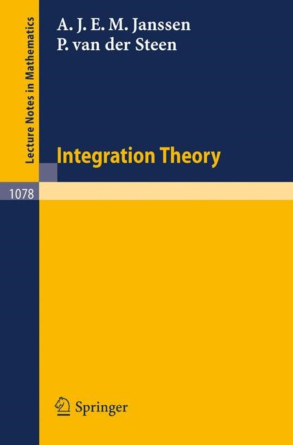 Abbildung von Janssen / Steen | Integration Theory | 1984