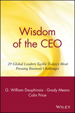 Abbildung von Dauphinais / Means / Price | Wisdom of the CEO | 2000 | 29 Global Leaders Tackle Today...