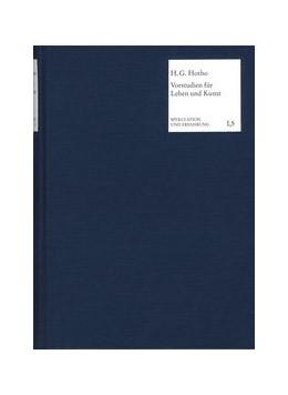 Abbildung von Hotho / Collenberg-Plotnikov | Vorstudien für Leben und Kunst | 2002