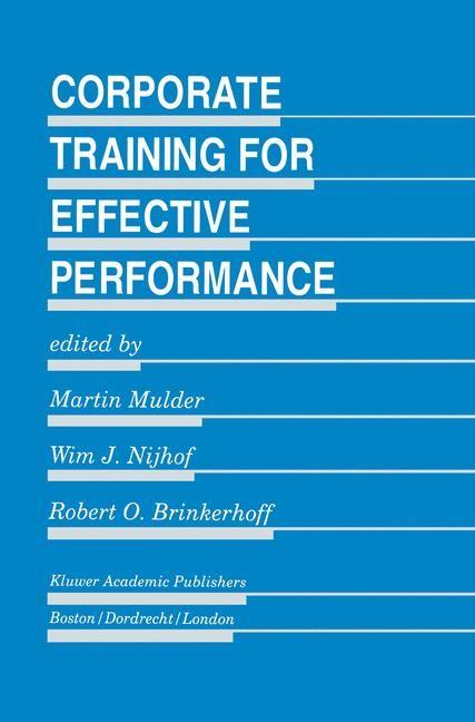 Abbildung von Mulder / Nijhof / Brinkerhoff | Corporate Training for Effective Performance | 1995