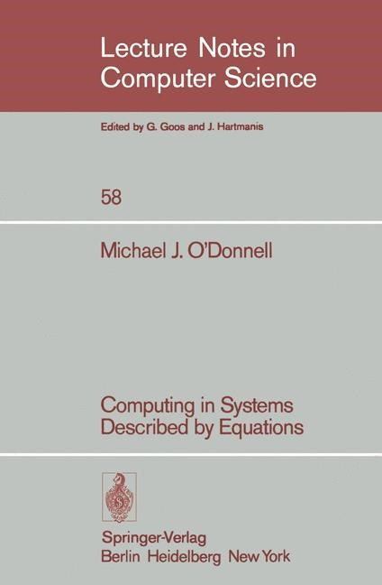 Abbildung von O'Donnell | Computing in Systems Described by Equations | 1977