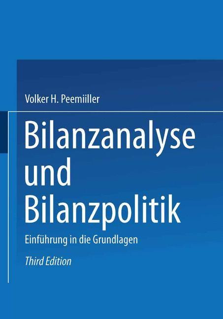 Abbildung von Peemöller | Bilanzanalyse und Bilanzpolitik | 3., akt. | 2003