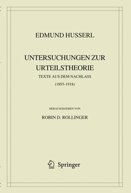 Abbildung von Husserl / Rollinger | Edmund Husserl. Untersuchungen zur Urteilstheorie | 2009 | Texte aus dem Nachlass (1893-1... | 40