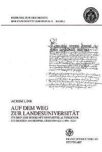 Auf dem Weg zur Landesuniversität   Link, 2000   Buch (Cover)