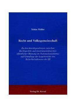 Abbildung von Müller | Recht und Volksgemeinschaft | 2001 | Zu den Interdependenzen zwisch... | 1