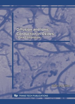 Abbildung von Fisher | Diffusion and Ionic Conduction in Oxides | 2008 | Data Compilation