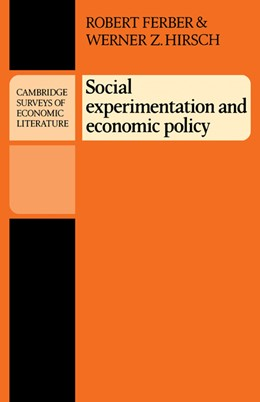 Abbildung von Ferber / Hirsch   Social Experimentation and Economic Policy   1981