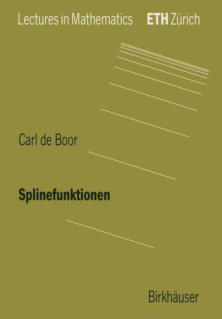 Splinefunktionen | Boor, 1990 | Buch (Cover)