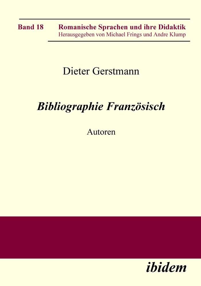 Abbildung von Gerstmann   Bibliographie Französisch   2008