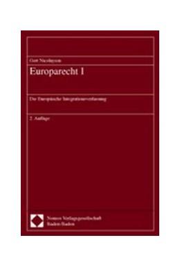 Abbildung von Nicolaysen | Europarecht I | 2. Auflage | 2002 | Die Europäische Integrationsve...